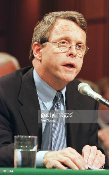 Sen Mike DeWine testifies before the Senate Commerce Committee September 13 2000 on Capitol Hill in Washington during the hearing on marketing...