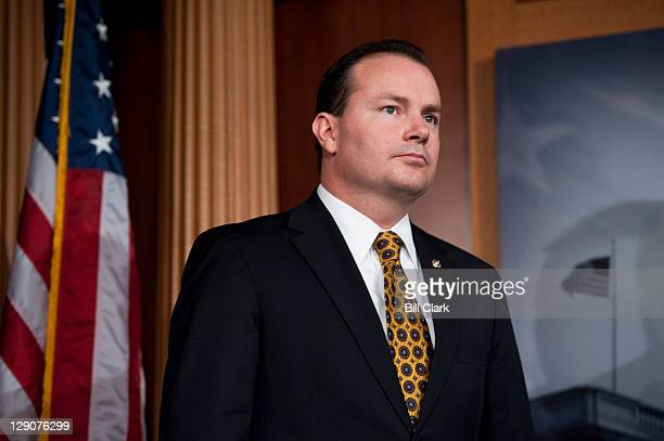 Sen Mike Lee RUtah participates in a news conference on Wednesday Oct 12 to introduce the Northern Arizona Mining Continuity Act of 2011 which will...