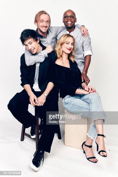 Sen Mitsuji Tom Felton Nora Arnezeder and Fraser James of YouTube's 'ORIGIN' pose for a portrait during the 2018 Summer Television Critics...