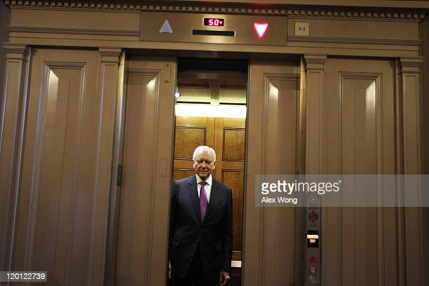 S Sen Orrin Hatch takes an elevator July 30 2011 at the Capitol in Washington DC Members of the Congress continued to debate on the debt ceiling plan