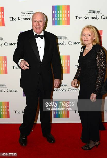 Sen Patrick Leahy and wife Marcelle Pomerleau arrive at a special dinner for Kennedy Center honorees and guests at the State Department in Washington...