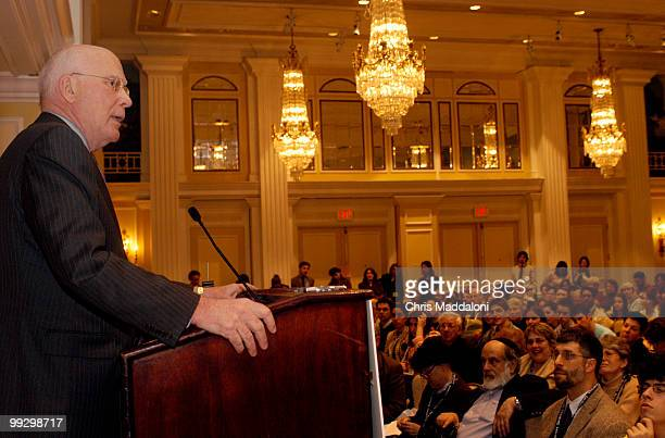 Sen Patrick Leahy DVt addressed the Religious Action Center of Reform Judaism÷s 2005 Consultation on Conscience conference today at the Willard...