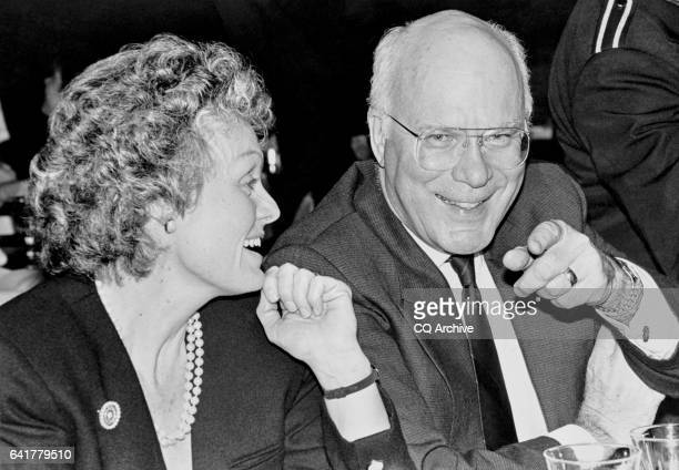 Sen Patrick Leahy DVt and Marcelle Leahy at Record Industry Party March 10 1992