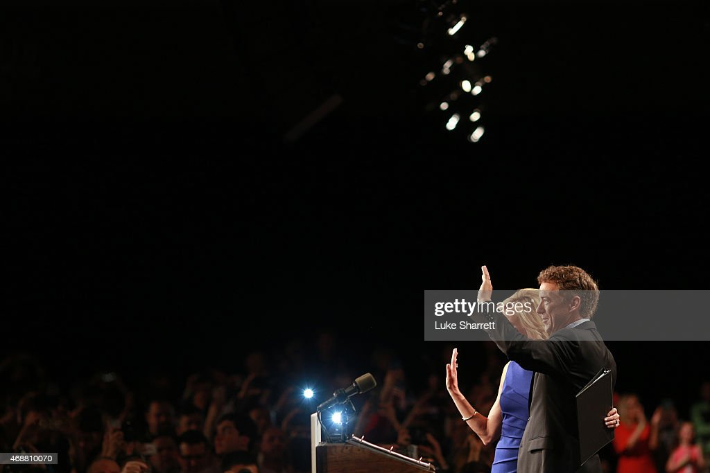 Sen. Rand Paul (R-KY) and his wife Kelley Paul wave to supporters during an event announcing Sen. Paul's candidacy for the Republican presidential nomination at the Galt House Hotel on April 7, 2015 in Louisville, Kentucky. Originally an ophthalmologist, Paul rode the Tea Party wave to office in 2010.