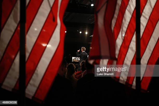 Sen. Rand Paul delivers remarks while announcing his candidacy for the Republican presidential nomination during an event at the Galt House Hotel on...