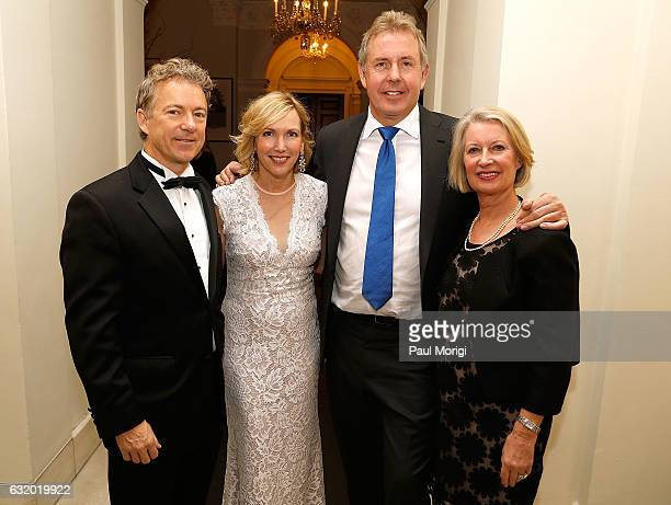 Sen. Rand Paul , Kelley Paul, British Ambassador Kim Darroch and Lady Vanessa Darroch pose for a photo at an Afternoon Tea hosted by the British...