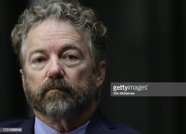 Sen. Rand Paul participates in a Senate Health, Education, Labor and Pensions Committee hearing on Capitol Hill on May 12, 2020 in Washington, DC....