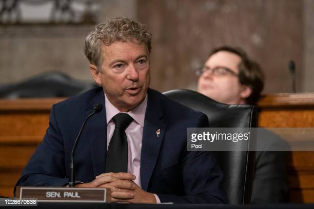 Sen. Rand Paul questions Dr. Anthony Fauci, director of the National Institute of Allergy and Infectious Diseases, at a hearing of the Senate Health,...