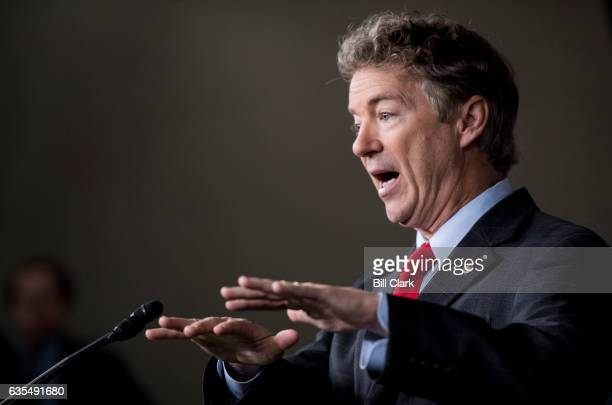 Sen Rand Paul RKy speaks during the House Freedom Caucus news conference on Affordable Care Act replacement legislation on Wednesday Feb 15 2017