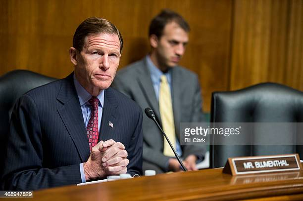 Sen Richard Blumenthal DConn chairs the Senate Judiciary Committee hearing on 'The Report of the Privacy and Civil Liberties Oversight Board on...