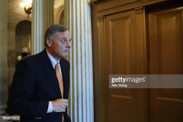 S Sen Richard Burr leaves the Senate chamber after a vote at the Capitol December 1 2017 in Washington DC Senate GOPs indicate that they have enough...