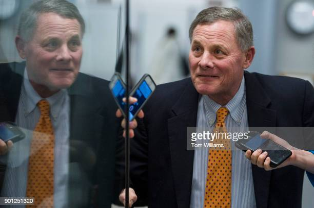 Sen Richard Burr RNC is seen in the basement of the Capitol before the Senate luncheons on January 4 2018