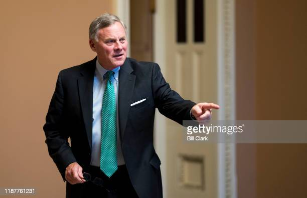 Sen Richard Burr RNC leaves the Senate Republicans policy lunch in the Capitol on Tuesday Dec 10 2019