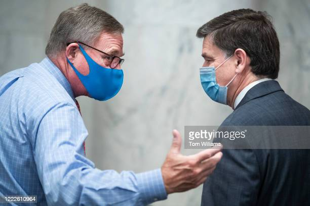 Sen Richard Burr RNC left greets Peter Michael Thomson nominee to be inspector general of the Central Intelligence Agency before Thomsons Senate...