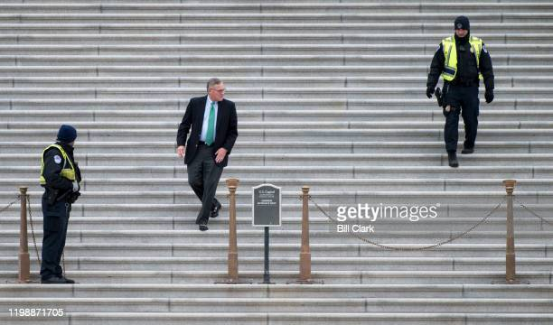 Sen Richard Burr RNC walks down the Senate steps after the Senate voted to acquit President Donald Trump on the two impeachment charges on Wednesday...