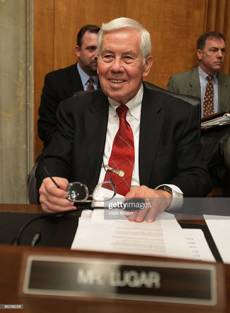 Sen. Richard Lugar (R-IN) participates in a Senate Foreign Relations Committee hearing on Capitol Hill on March 5, 2009 in Washington, DC. The SFRC committee, chaired by Sen. John Kerry (D-MA), is hearing testimony on the United States' strategy in dealing with Iran and reports on their nuclear program.
