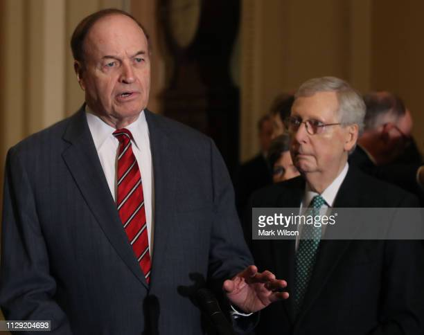 Sen. Richard Shelby , a primary negotiator for the Republican side, speaks about a bipartisan border security compromise negotiated by congressional...
