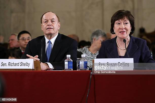 Sen. Richard Shelby and Sen. Susan Collins testify about Sen. Jeff Sessions during his confirmation hearing to be the U.S. Attorney General before...