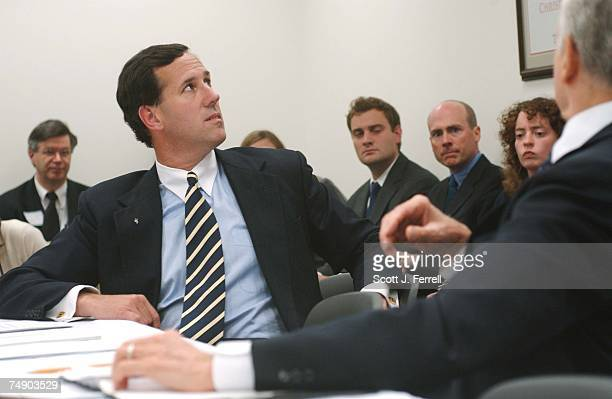 'PARTIALBIRTH' ABORTION CONFERENCE COMMITTEE Sen Rick Santorum RPa and Chairman Orrin G Hatch RUtah check the clock as they wait for House and Senate...