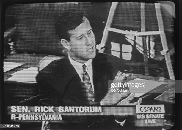 Sen Rick Santorum RPa speaking on CSPAN about the ban on partial birth abortion in April 1997
