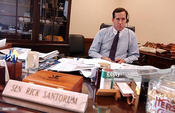 Sen Rick Santorum RPa speaks to Pennsylvania and national radio shows about President Bush's signing of the Partial Birth Abortion Ban Act