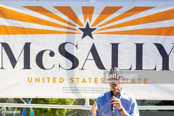 Sen. Rick Scott speaks to supporters before Sen. Martha McSally during a campaign event on October 29, 2020 in Scottsdale, Arizona. McSally is...