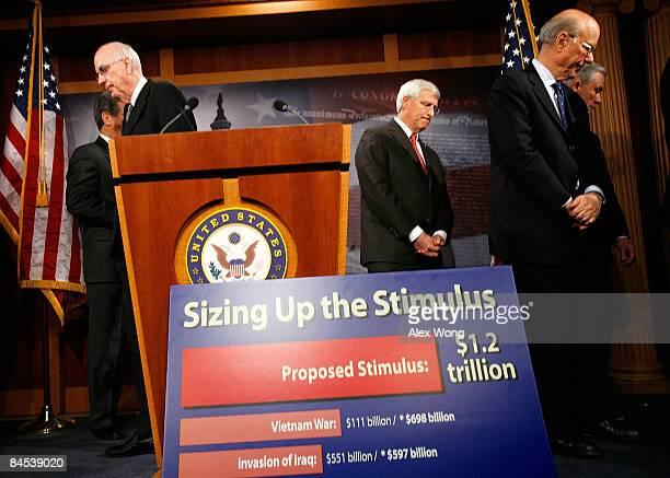 Sen. Robert Bennett , Sen. Roger Wicker , Sen. Pat Roberts , Sen. Jeff Sessions leave after a news conference on the economic stimulus package on...