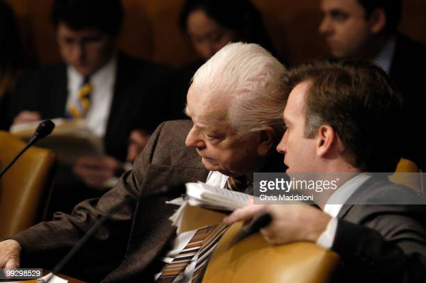 Sen Robert Byrd DWV at a Senate Armed Services Committee briefing on national security implications of the acquisition of Peninsular and Oriental...