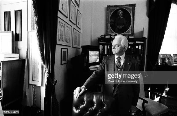 Sen Robert Byrd of West Virginia in his Senate Office January 26 1999 in Washington DC during the Impeachment Trial of President Bill Clinton