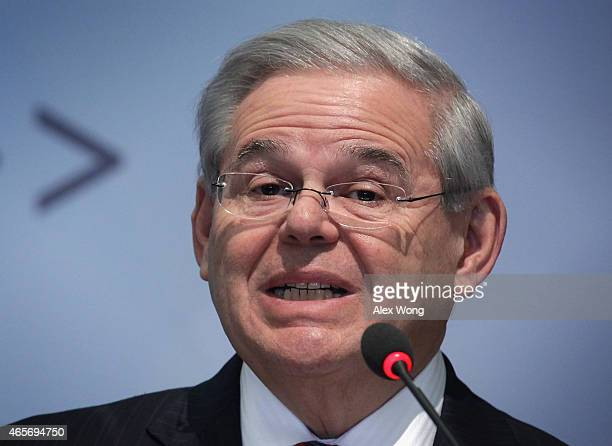 S Sen Robert Menendez speaks on 'America's Strategic Dilemma A Revisionist Russia in a Complex World' at Center for Strategic and International...