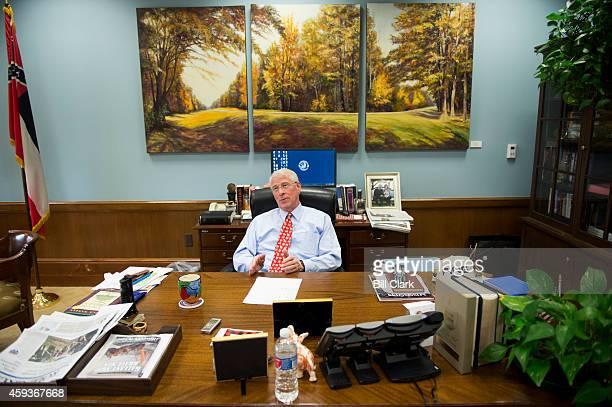 Sen Roger Wicker RMiss speaks to Roll Call in his office in the Dirksen Senate Office Building on Nov 19 2014