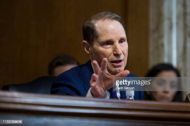 Sen Ron Wyden questions David Bernhardt President Donald Trump's nominee to be Interior Secretary during a Senate Energy and Natural Resources...