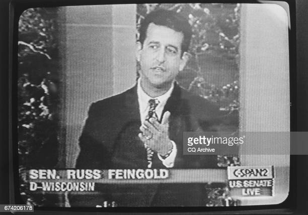 Sen Russ Feingold DWis pictured speaking on CSPAN about partial birth abortion 1992