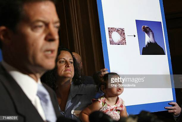 Sen. Sam Brownback points out that it is illegal to destroy a Bald Eagle egg but that some proposed legislation would make it legal to take stem...
