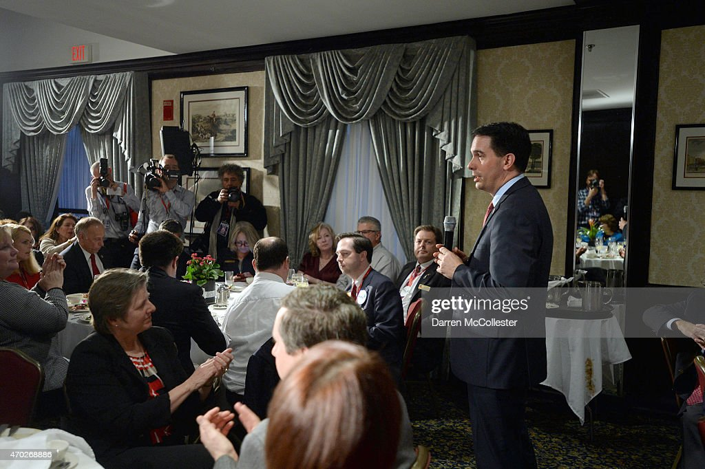 U.S. Sen. Scott Walker (R-WI) speaks at the First in the Nation Republican Leadership Summit April 18, 2015 in Nashua, New Hampshire. The Summit brought together local and national Republicans and was attended by all the Republicans candidates as well as those eyeing a run for the nomination.