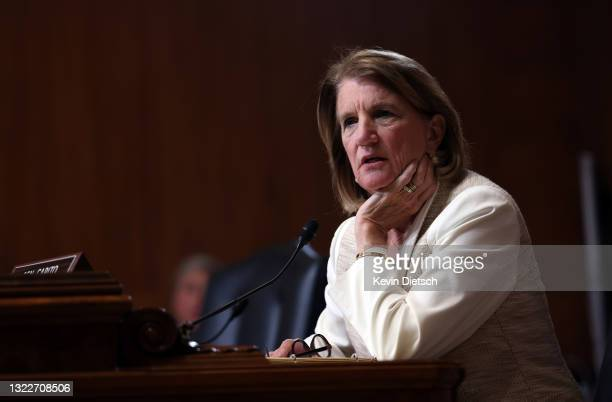 Sen. Shelley Moore Capito participates in a Senate Appropriations Subcommittee hearing on the Environmental Protection Agency fiscal year 2022 budget...
