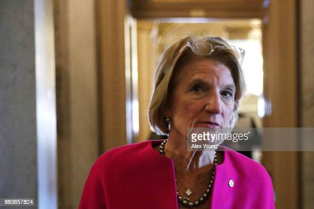 S Sen Shelley Moore Capito speaks to members of the media at the Capitol December 1 2017 in Washington DC Senate GOPs indicate that they have enough...