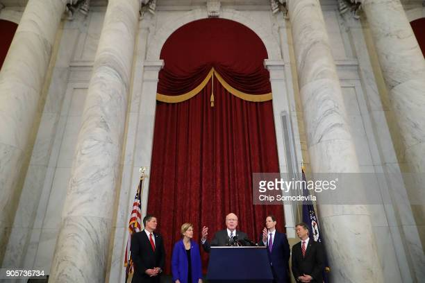 Sen Steve Daines Sen Elizabeth Warren Sen Patrick Leahy Sen Ron Wyden and Sen Rand Paul and hold a news conference about their proposed reforms to...