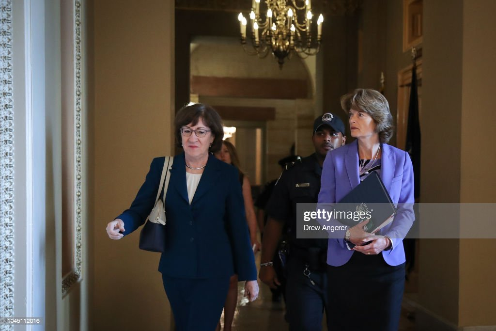Senators Await FBI Report On Supreme Court Nominee Brett Kavanaugh : Fotografía de noticias
