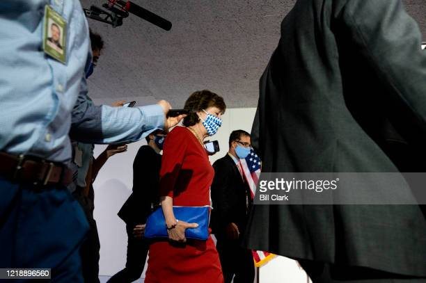 Sen. Susan Collins, R-Maine, arrives for the Senate Republicans weekly lunch on Tuesday, June 2020.