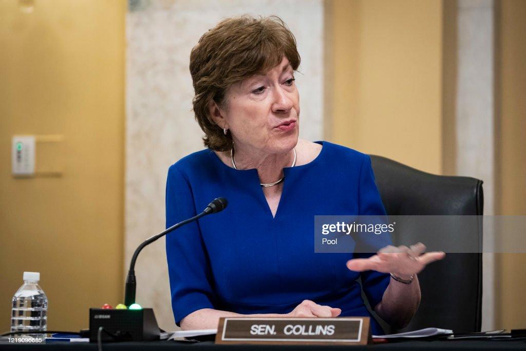 Secretary Mnuchin Testifies In Senate Hearing On CARES Act Implementation : News Photo