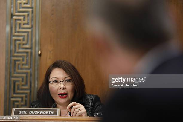 Sen Tammy Duckworth questions Oklahoma Attorney General Scott Pruitt Presidentelect Donald Trump's choice to head the Environmental Protection Agency...