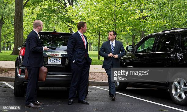 Sen. Ted Cruz arrives back at the Capitol outside of the Russell Senate Office Building on Tuesday, May 10 for the first time since suspending his...