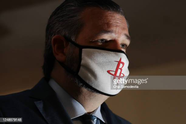 Sen. Ted Cruz arrives for the weekly Senate Republican policy luncheon in the Hart Senate Office Building on Capitol Hill June 09, 2020 in...