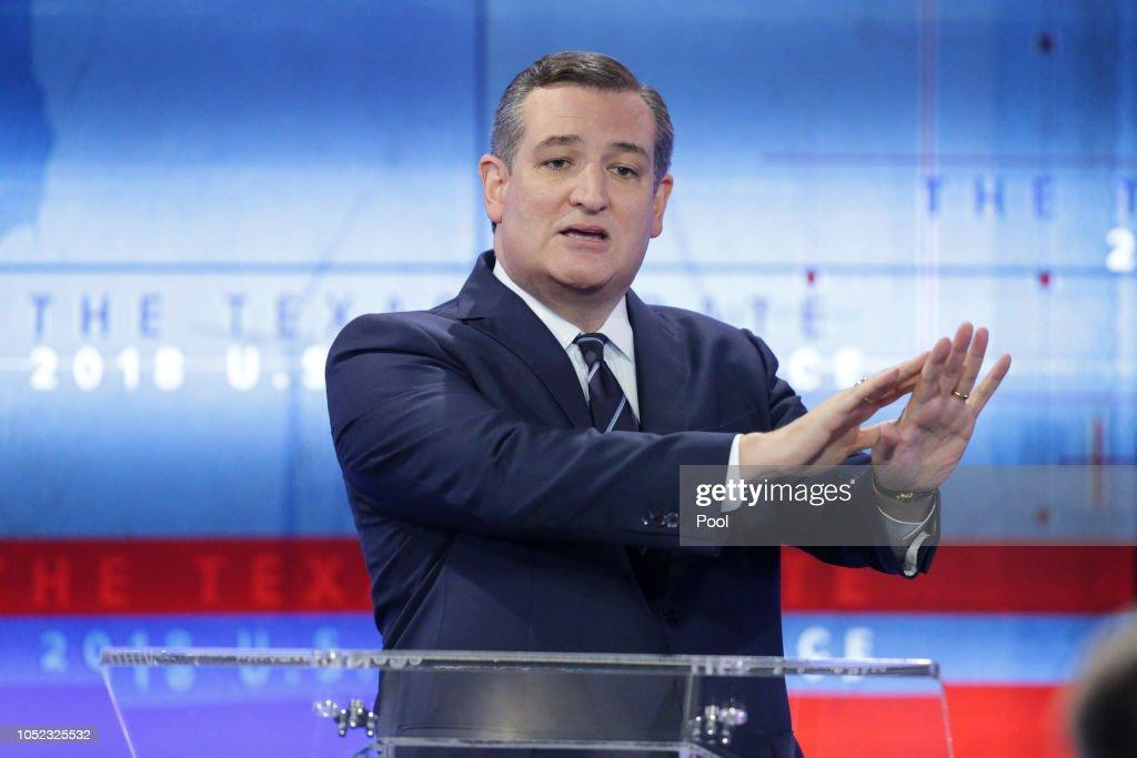 Sen. Ted Cruz And Beto O'Rourke Debate In San Antonio : News Photo