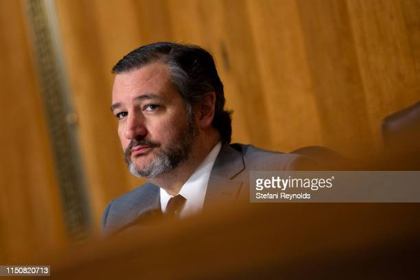 S Sen Ted Cruz listens during the nomination hearing of Kelly Craft President Trump's nominee to be Representative to the United Nations before the...