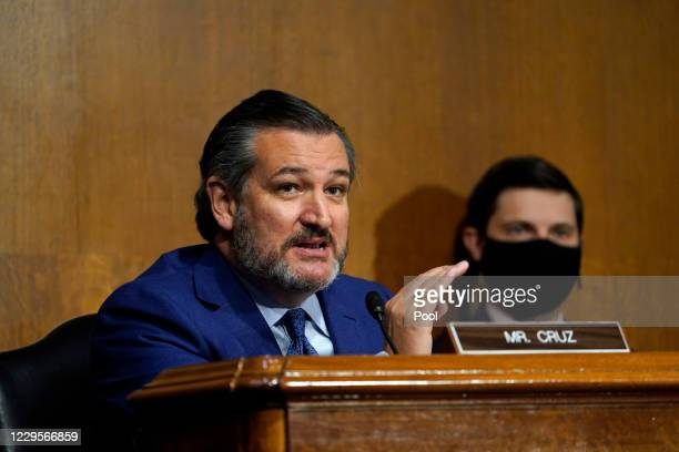 Sen. Ted Cruz speaks during a Senate Judiciary Committee hearing on November 10, 2020 on Capitol Hill in Washington, DC. The hearing is related to...