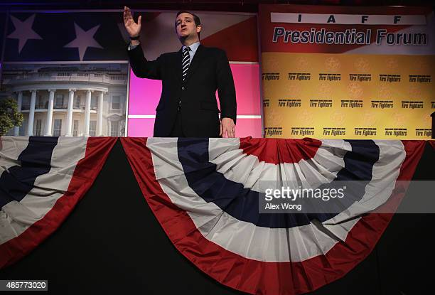 Sen. Ted Cruz speaks during the 2015 Alfred K. Whitehead Legislative Conference and Presidential Forum March 10, 2015 in Washington, DC. Prospective...