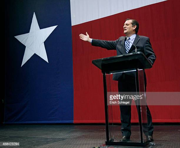 S Sen Ted Cruz speaks on stage during the victory party for Texas Governorelect Greg Abbott on November 4 2014 in Austin Texas Abbott defeated...