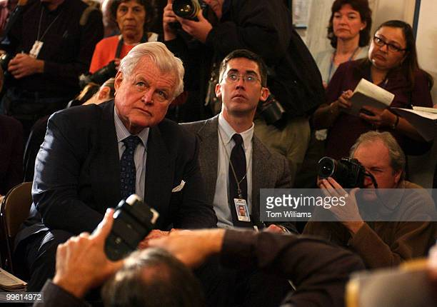 Sen. Ted Kennedy, D-Mass., prepares to speak at a news conference in which they criticized the Medicare Bill, in Russell Building, Friday.